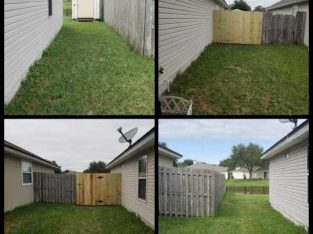Privacy fence starting at 13ft. Shadow box and board on board starting at 15ft. farm/split rail 12ft