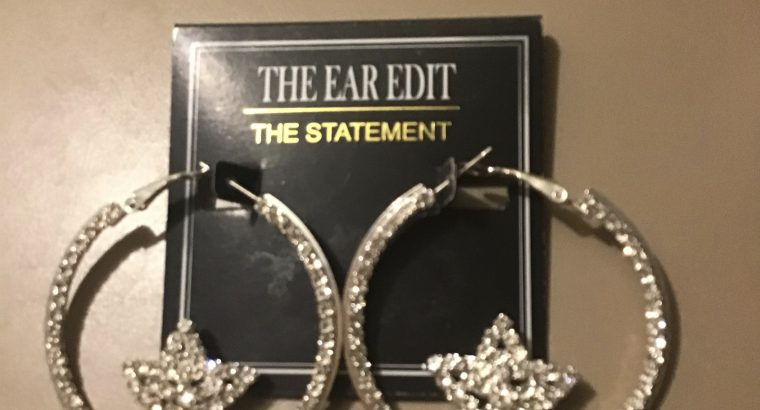 Earrings pierced NWT from Kohls loops with bling a